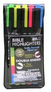 Zebrite Wet Double Ended Bible Highlighjter Set of 5, Caution Might Bleed Through Stationery