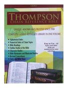 KJV Thompson Chain Reference Burgundy Indexed (Red Letter Edition) Genuine Leather