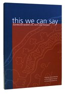 This We Can Say Paperback