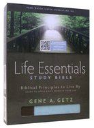 HCSB Life Essentials Study Bible Blue/Brown Indexed