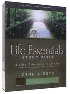 HCSB Life Essentials Study Bible Brown/Green Indexed