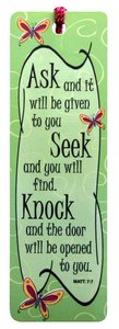 Tassel Bookmark: Ask.. Seek.. Knock..