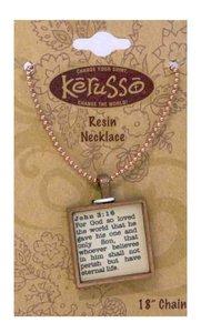 Necklace: John 3:16 (Resin)