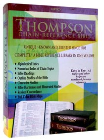 KJV Thompson Chain Reference Study Bible Black (Red Letter Edition)