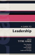 A Guide to Leadership (International Study Guide Series) Paperback