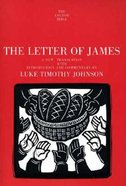 The Letter of James (Anchor Yale Bible Commentaries Series) Paperback
