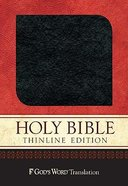 God's Word Thinline Charcoal Bonded Leather
