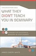 What They Didn't Teach You in Seminary: 25 Lessons For Successful Ministy in Your Church Paperback