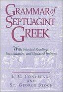 Grammar of Septuagint Greek Paperback