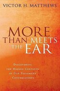More Than Meets the Ear Paperback