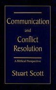 Communication & Conflict Resolution Paperback