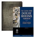 Douay-Rheims Bible Black Genuine Leather