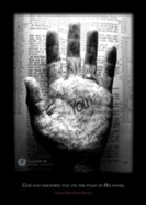 Poster Large: God Has Inscribed You on the Palm of His Hand Poster