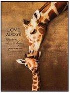 Mounted Print: Giraffe, Love Always Protects, 1 Corinthians 13:7, On Mdf Board