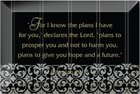 "Artisan Glass Plaque: For I Know the Plans... (4"" X 6"") Plaque"