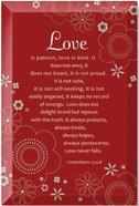 "Artisan Glass: Love (6"" X 9"") Plaque"