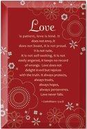 "Artisan Glass: Love (6"" X 9"")"