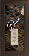 "Framed Plaque: Dad (8"" X 16"") (Words Of Grace)"