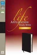 NIV Life Application Study Bible Large Print Black (Red Letter Edition)