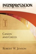 Interpretation: Canon & Creed Hardback