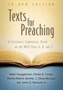 Texts For Preaching (Cd-rom Edition) Hardback