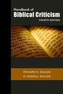 Handbook of Biblical Criticism (4th Edition) Paperback