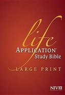 NIV Life Application Bible Large Print Indexed (Red Letter Edition) Hardback