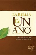 Rvr60 Biblia En Un Ano (Black Letter Edition) (One Year Bible) Hardback