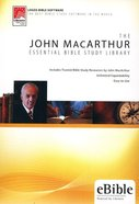 John Macarthur (Cd-Rom) (Essential Bible Study Library Series) Cd-rom