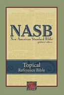 NASB Topical Reference Bible Black Bonded Leather