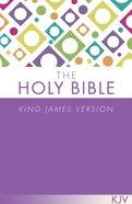 KJV Holy Bible Purple Paperback