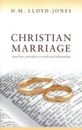 Christian Marriage Paperback