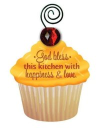 Be Sweet Cupcake Magnet: God Bless This Kitchen With Happiness & Love