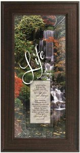 "Framed Plaque: Life (8"" X 16"") (Words Of Grace)"