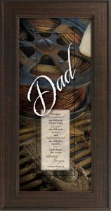 "Framed Plaque: Dad (8"" X 16"") (Words Of Grace)"