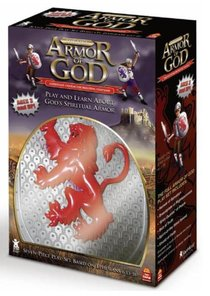 Full Armour of God Play Set Costume (Silver & Red)