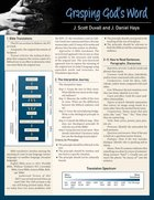 Grasping God's Word Laminated Sheet (Zondervan Get An A! Study Guide) Poster