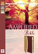 Amplified Bible Large Print Camel/Burgundy Imitation Leather
