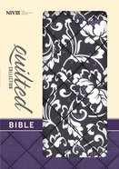 NIV Compact Thinline Bible Quilted Black Floral (Red Letter Edition) Fabric