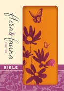NIV Compact Thinline Bible Flora and Fauna Tangerine Magenta (Red Letter Edition)