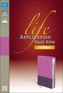 NIV Life Application Study Bible Large Print Orchid/Plum (Red Letter Edition)