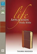 NIV Life Application Study Bible Indexed Caramel/Dark Caramel (Red Letter Edition) Premium Imitation Leather