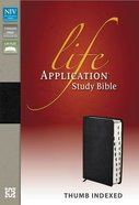 NIV Life Application Study Black Indexed (Red Letter Edition)