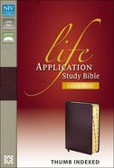 NIV Life Application Study Bible Large Print Indexed Burgundy (Red Letter Edition)