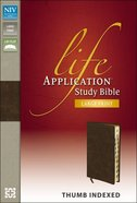 NIV Life Application Study Large Print Indexed Distressed Brown (Red Letter Edition)