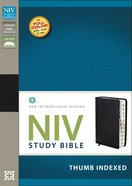 NIV Study Bible Regular Black Thumb Indexed (Red Letter Edition)