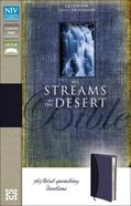 NIV Streams in the Desert Bible Slate Blue Imitation Leather