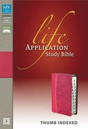 NIV Life Application Study Bible Honeysuckle Pink Indexed (Red Letter Edition)