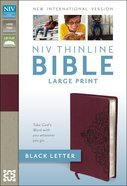 NIV Thinline Bible Large Print Cranberry Imitation Leather