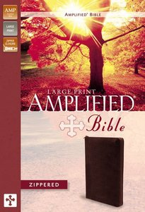 Amplified Large Print Zippered Collection Bible Burgundy